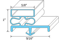 "DOOR GASKET 8' SNAP-IN MAGNETIC MAG 5/8"" B 1"" Dart Mount for General Use 741307"