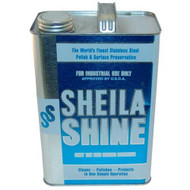 POLISH for STAINLESS STEEL 1 GALLON Sheila Shine Removes Greasy Films 321702