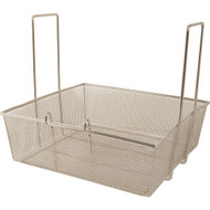 "FRY BASKET w/Two Handles Front Hook 16.75"" x 17.5"" x 6"" large batch 225-1027"