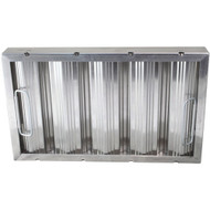 "BAFFLE-TYPE GREASE FILTER W/Handles Galvanized 16"" X 20"" 2"" for CHG  261766"