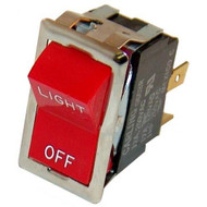 BLACK ROCKER SWITCH fits 7/8 X 1-1/2 Hole DPST for Montague Oven 115AEI 421310