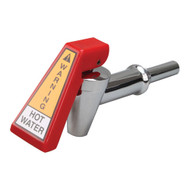 HOT WATER FAUCET RED HANDLE CHROME SHANK W/Hose Fitting for Bunn AXIOM 581181