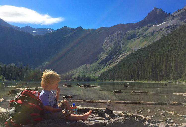 Glacier National Park Avalanche Lake Hike with kids