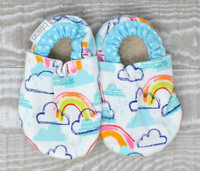 Rainbow Bison Booties 0-6 months
