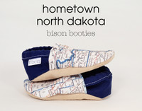 Hometown North Dakota Bison Booties 18-24 months