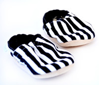 Stripe Bison Booties 6-12 months