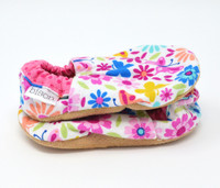 Flower + Flutter Bison Booties 0-6 months