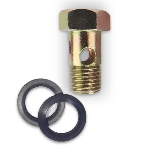 Hardened 14 MM Banjo bolt for Cummins is bullet proof! It uses a high grade alloy steel and heat treated steel.