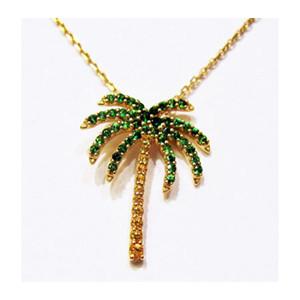 14K palm tree pendant