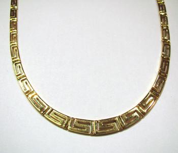 18K Greek key collar