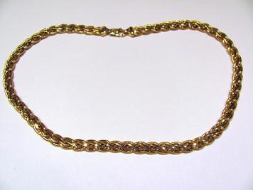 Flat fashion link necklace