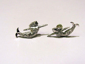Sterling Mermaid stud earrings