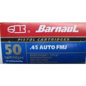 Barnaul Ammunition .45 ACP 230GR FMJ 500 Rd.