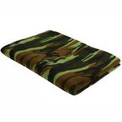 Rothco Camo Fleece Blanket Woodland Camo