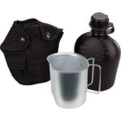 Rothco 3 Piece Canteen Kit With Cover & Aluminum Cup black