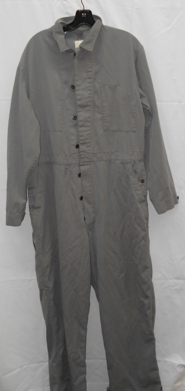 Canadian Forces Surplus Button-Up Work Coveralls - Grey - Frontier