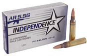 Independence 5.56 55gr Full Metal Jacket Boat Tail 1000rds