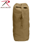 "Rothco Heavyweight Top Load Canvas Duffle 25""x42"" - Coyote"