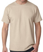 New! Sand Cotton  T-Shirt, Made in USA!