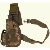 Fox Tactical SAS TACTICAL LEG HOLSTER (LEFT) - DIGITAL WOODLAND
