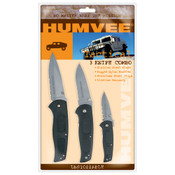 Fox Tactical HUMVEE TACTICAL KNIFE COMBO - BLACK