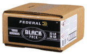 Federal Black Pack .22LR 36gr CPHP 2 x 1600rds (2 Cases 3200 Total Rounds)