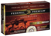 Federal Gold Medal 6.5 Creedmoor 130 GR Berger Hybrid 200rds