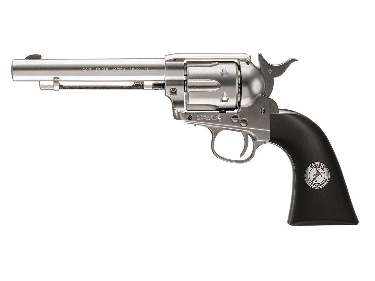 Umarex Colt - Peacemaker Nickel BB Revolver - Frontier