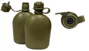 Surplus Genuine GI 3 Pc 1 Quart Canteen OD