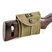 M1 CARBINE BUTTSTOCK TYPE POUCH Lt. OD Green Marked JT&L® 1943
