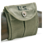 M1 CARBINE BUTTSTOCK TYPE POUCH OD Green Marked JT&L® 1944