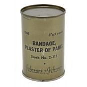 Original WW2 Plaster of Paris Bandages Dated January 1945