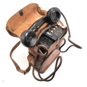 Vintage US EE8 Field Telephone with Leather Case