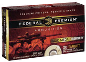 Federal Gold Medal Berger .308 Win. 185Gr Juggernaut Open Tip Match 200rds