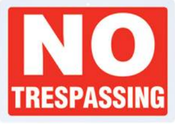 B&F Diamond Plate Sign - No Trespassing