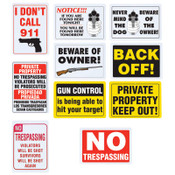 B&F Diamond Plate Sign Variety 10 Pack