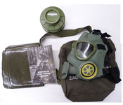 Unissued Yugo M1 Gas Mask With Free Chemical Poncho!