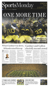 Under the Lights II Sports Monday Front Page - 2013