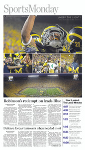 Under the Lights Sports Monday Front Page - 2011