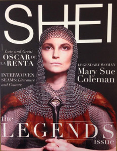"86 page, full-color magazine featuring photoshoots and articles centered around the theme of ""Legends"""