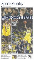 February 24, 2014 Sports Monday Front Page