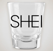 1.75 oz. clear shot glass with SHEI logo