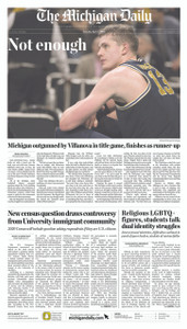April 3, 2018 - Front Page (Shipped)