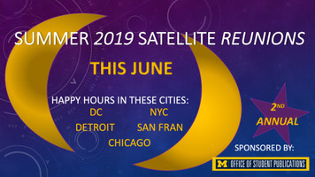2019 Summer Satellite Reunion Tickets