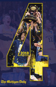 "2018 Basketball  ""4"" Blue Poster"