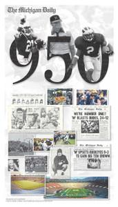 Michigan Football - 950 Wins Cover (Shipped)
