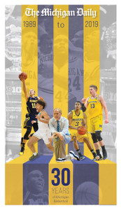 Michigan Basketball - 1989 - 2019 Cover (Shipped)