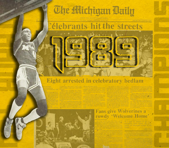 Michigan Basketball - 1989 Retro Poster