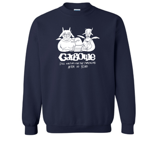 "Limited edition 110th Anniversary Crew Neck Sweatshirt featuring the beloved ""Bird Family"" adapted from 2018's Winter Issue. ""White Fill"" type Colors offered: Antique Cherry Red, Forest Green, Navy, and Heathered Gray."