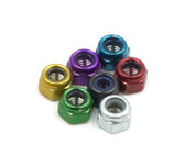 M3 Stainless Steel Nylock Nut - Colored (10 Pack)